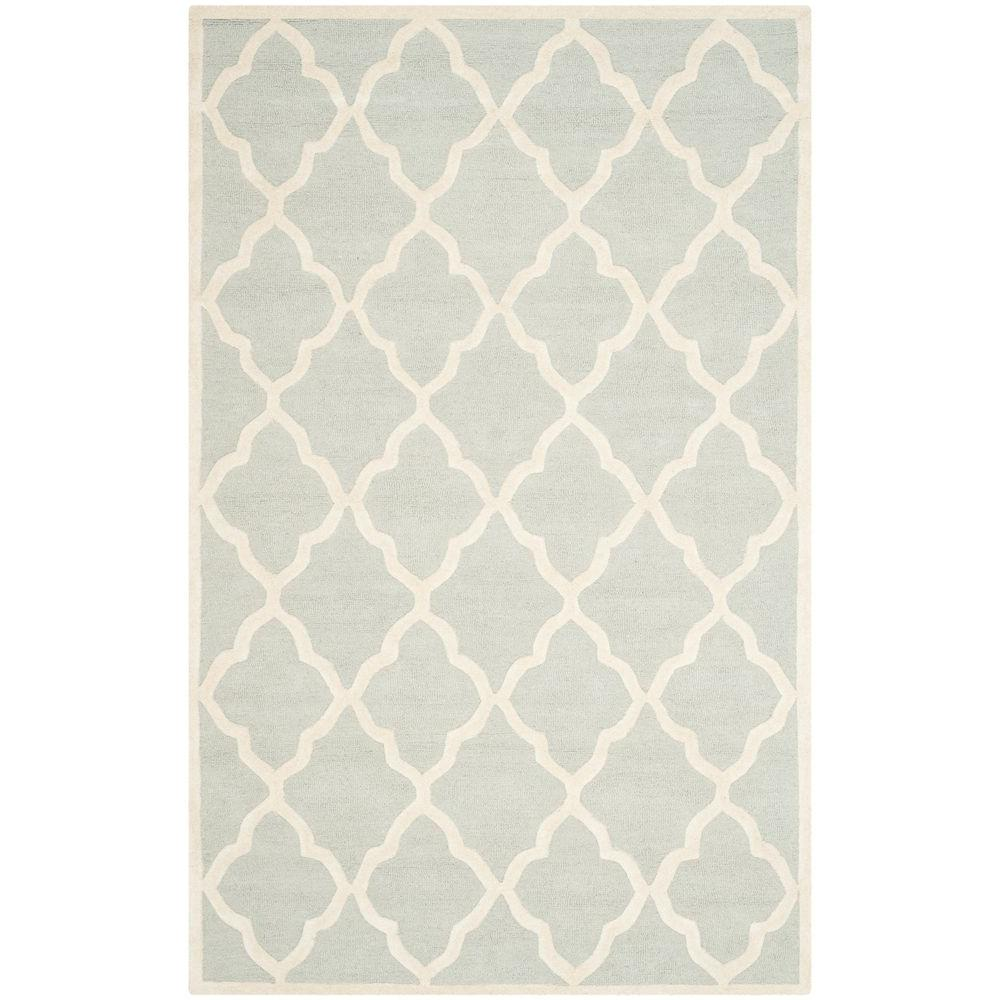 Cambridge Light Gray/Ivory 8 ft. x 10 ft. Area Rug
