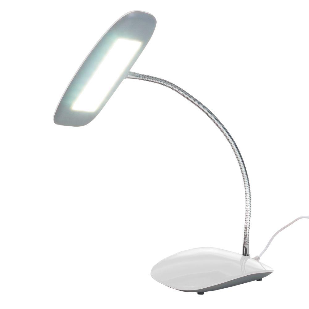 Black Desk Lamp With Touch Activated 18 Led Usb 72 Sl159b The Home Depot