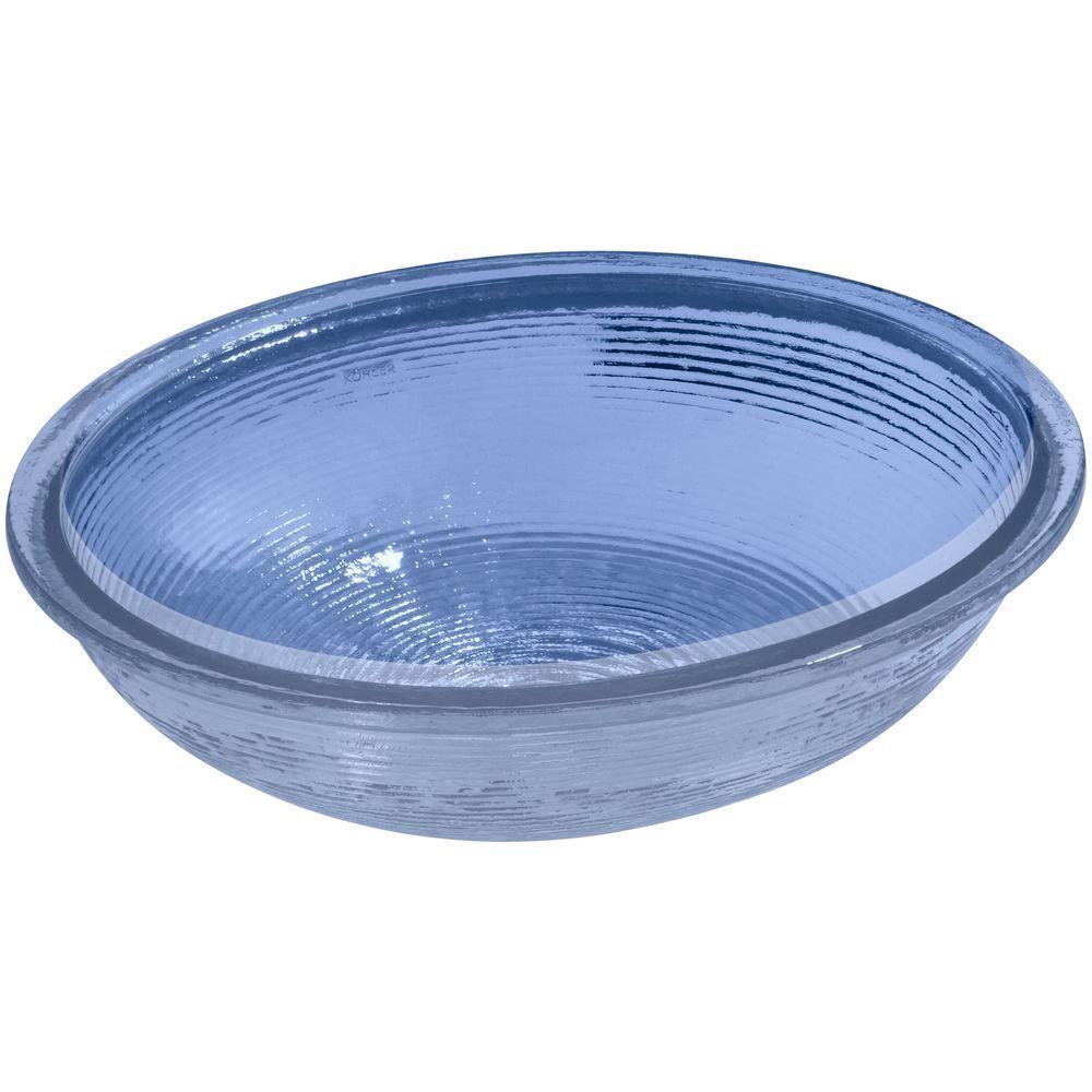 KOHLER Whist Vessel Sink in Translucent Sapphire Glass-K-2741-TG6 ...