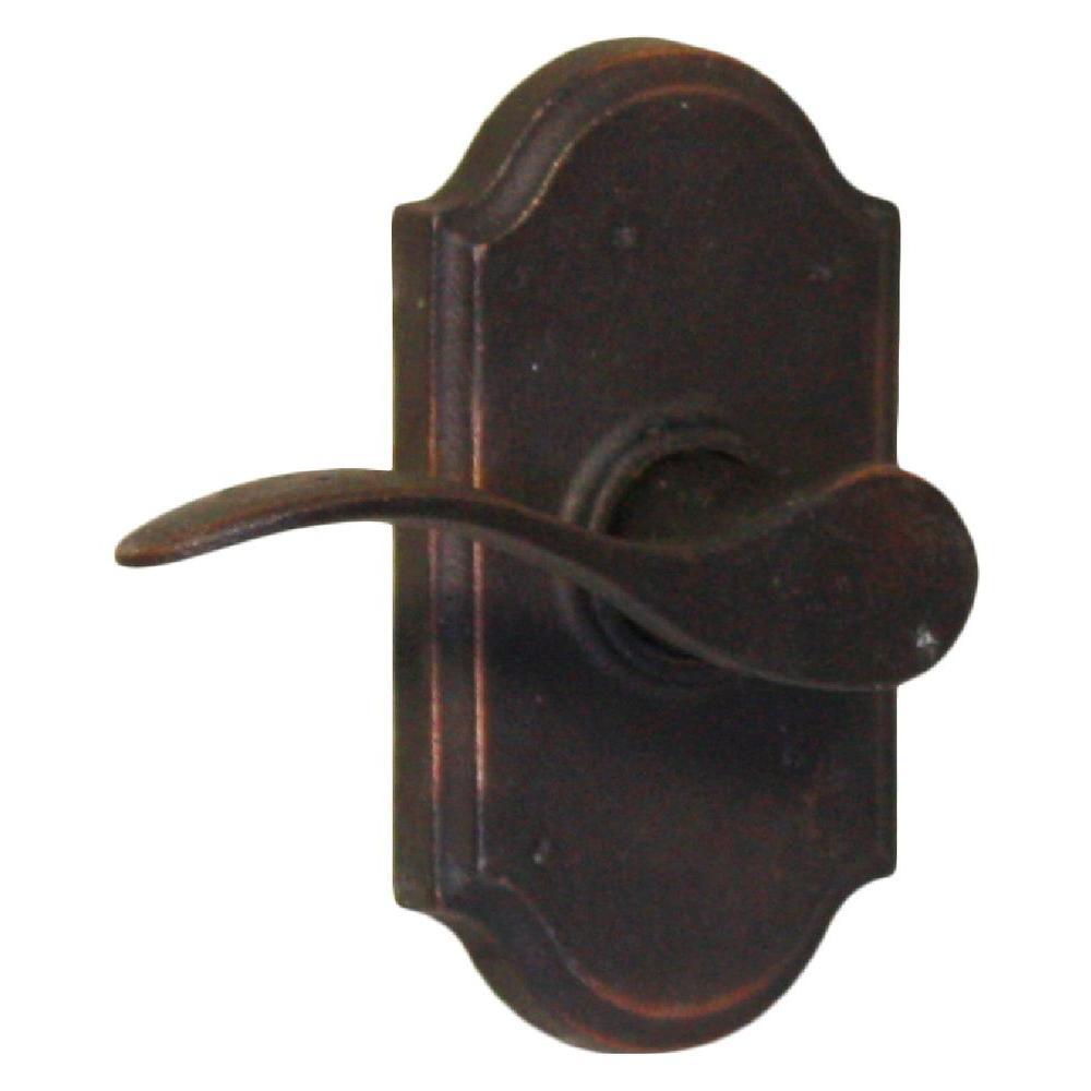 Molten Bronze Oil-Rubbed Bronze Left-Hand Premiere Passage Carlow Lever