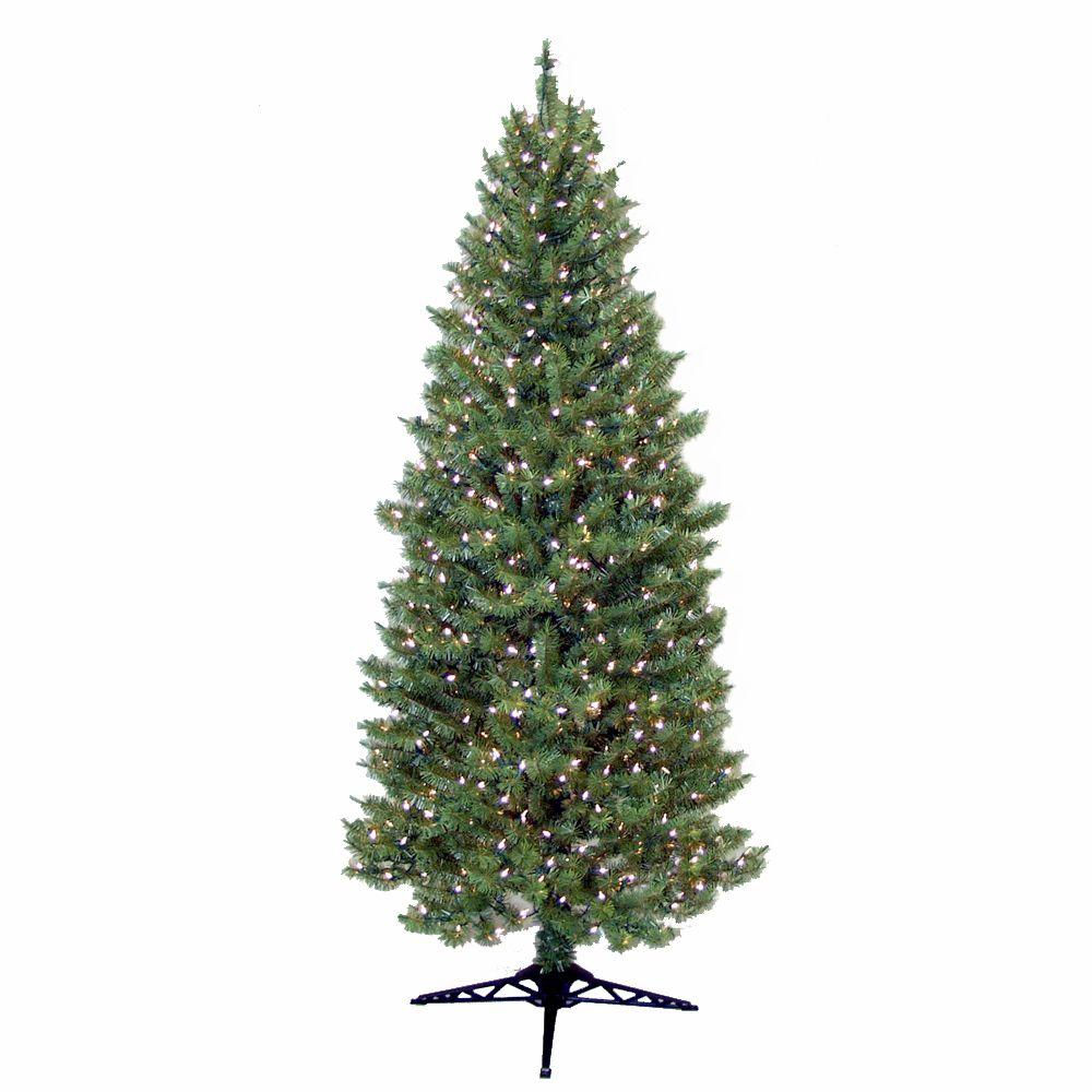 General Foam 7 ft. Pre Lit Slender Spruce Artificial Christmas Tree with Clear Lights