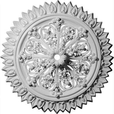 24-3/4 in. OD 1-3/8 in. ID x 3-1/4 in. P (Fits Canopies up to 1-3/8 in.) Lariah Polyurethane Ceiling Medallion