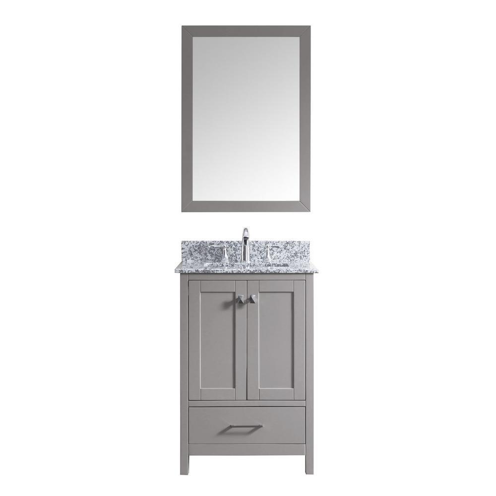 Caroline Madison 24 in. Vanity in Grey with Granite Vanity Top