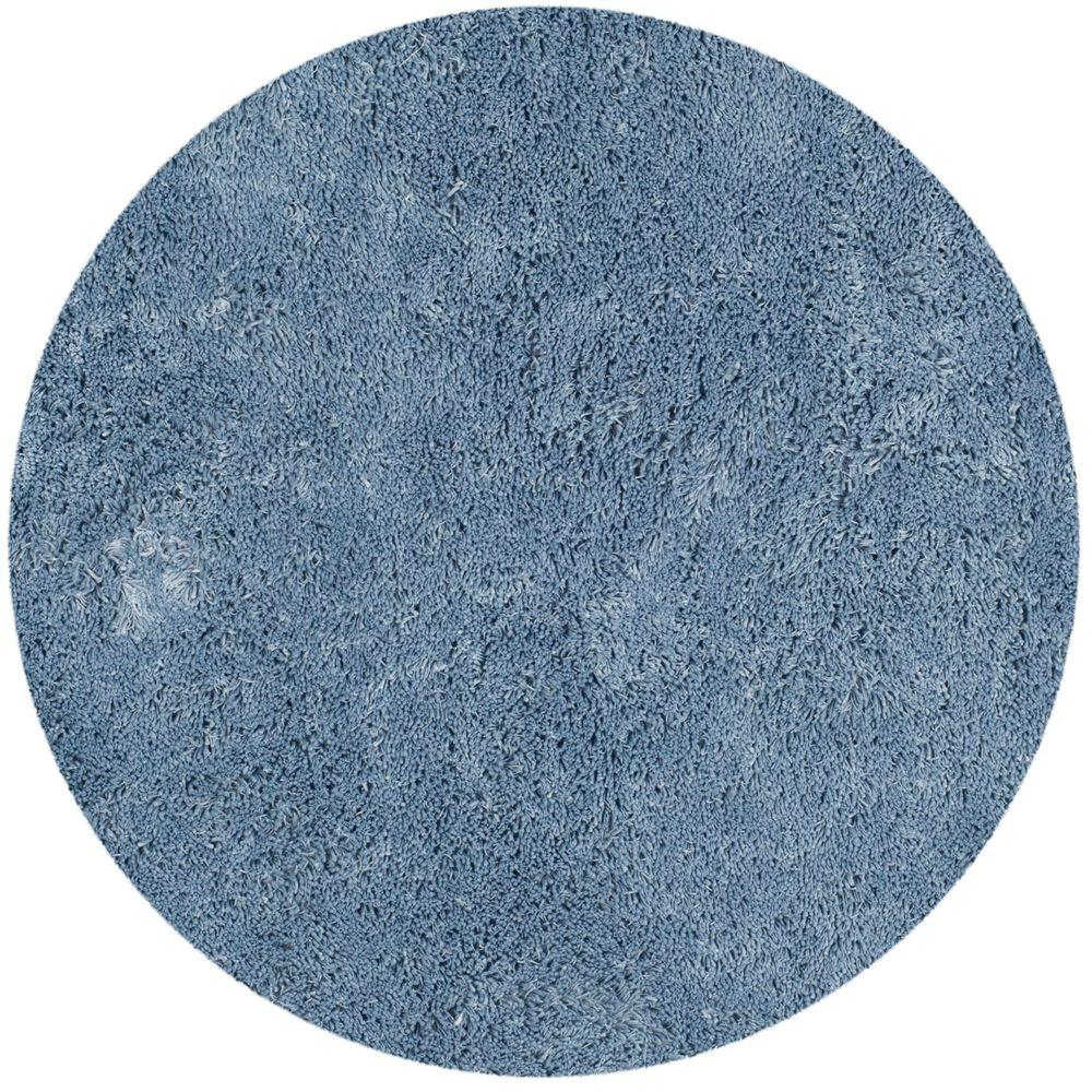 Safavieh Classic Shag Ultra Light Blue 4 ft. x 4 ft. Round Area Rug