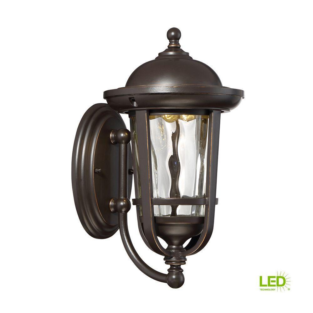 Westbrooke Aged Bronze Patina Outdoor LED Wall Lantern