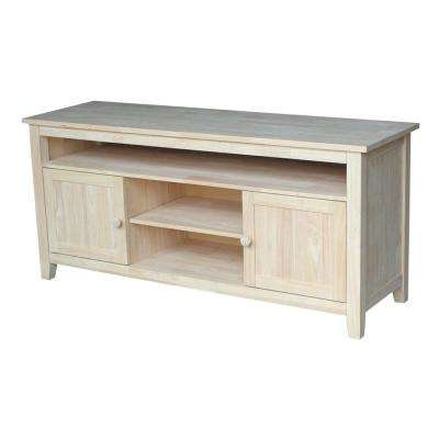 57 in. W Wood 2-Door TV Stand