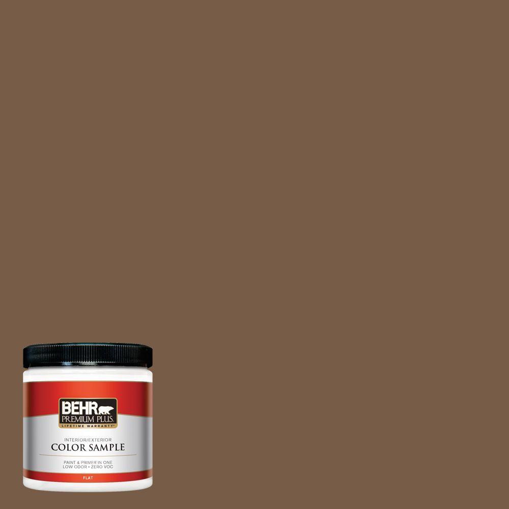 8 oz. #N250-7 Mission Brown Interior/Exterior Paint Sample