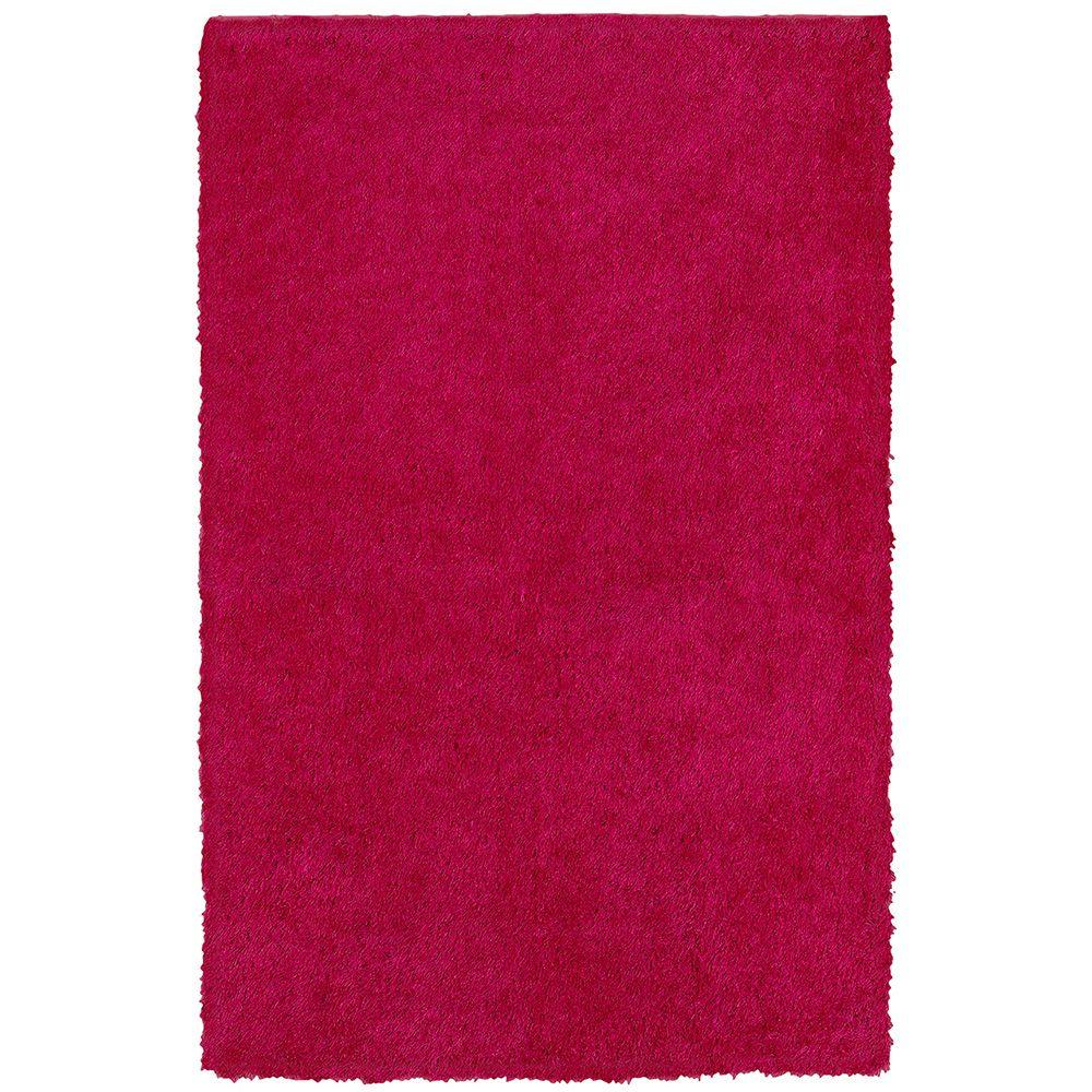 LR Resources Senses Shag Pink 5 ft. x 7 ft. 9 in. Plush Indoor Area Rug