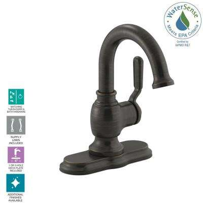 Worth Single Hole Single-Handle Bathroom Faucet in Oil Rubbed Bronze