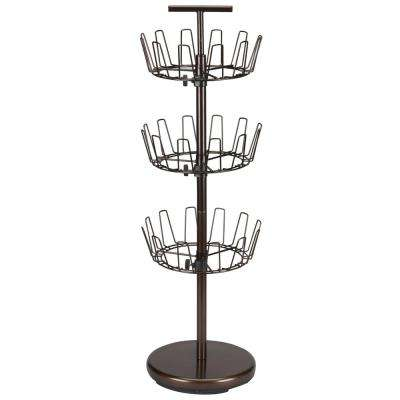 38 in. 3-Tier Shoe Tree in Bronze