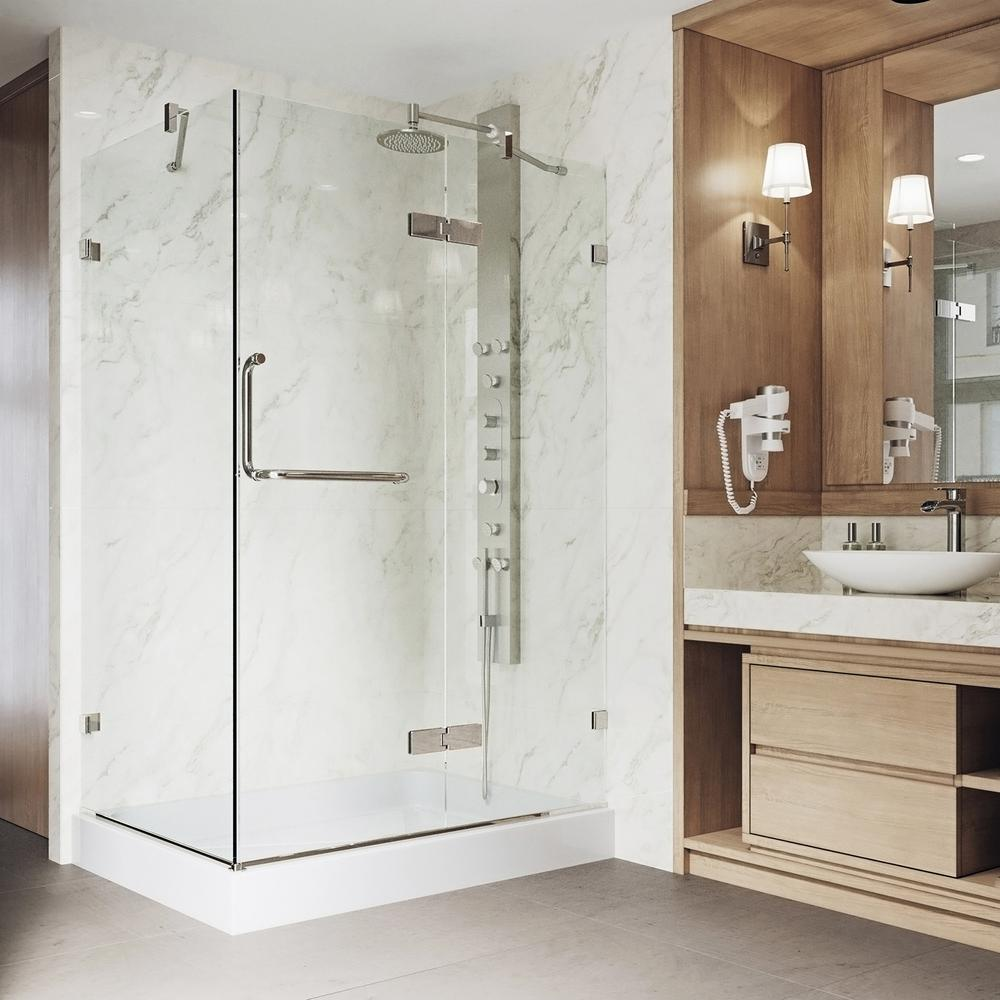 Vigo Monteray 4025 In X 7925 In Frameless Pivot Shower Door In