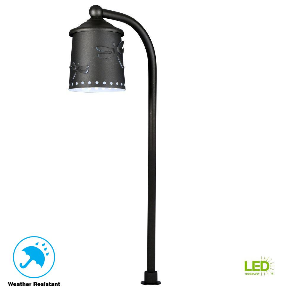 Hampton Bay Low-Voltage Black Outdoor Integrated LED