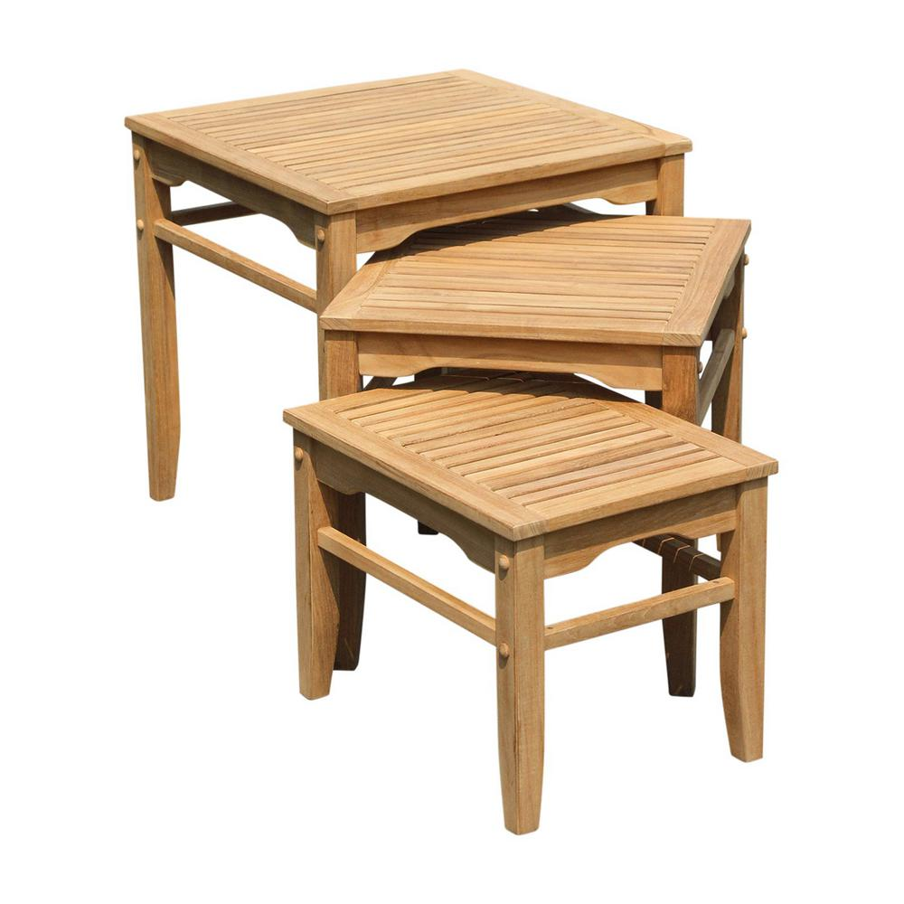 Cambridge Casual Heaton Wood Outdoor Side Table (3-Pack)
