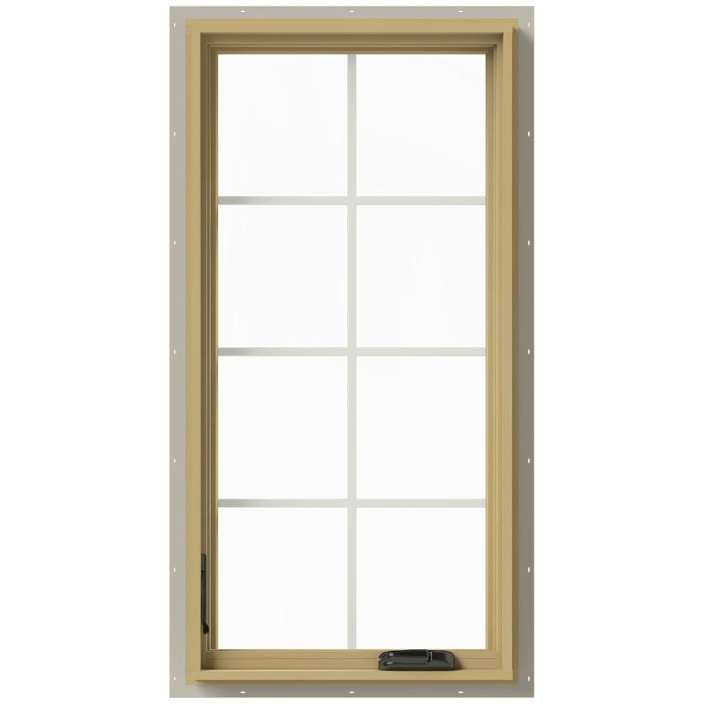 24 in. x 48 in. W-2500 Left-Hand Casement Aluminum Clad Wood