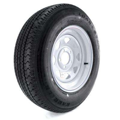 Karrier Radial 205/75R-15 Load Range C 5-Hole Custom Spoke Radial Trailer Tire and Wheel Assembly