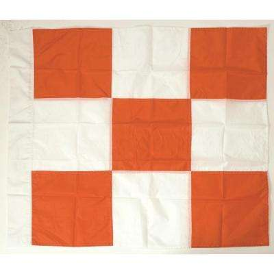 Orange and White Airport Flag 36 in. by 36 in.