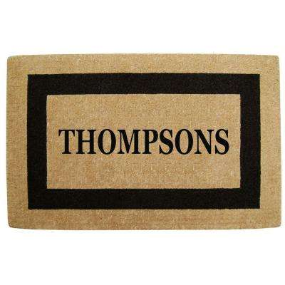 Single Picture Frame Black 30 In X 48 Heavyduty Coir Personalized Door Mat