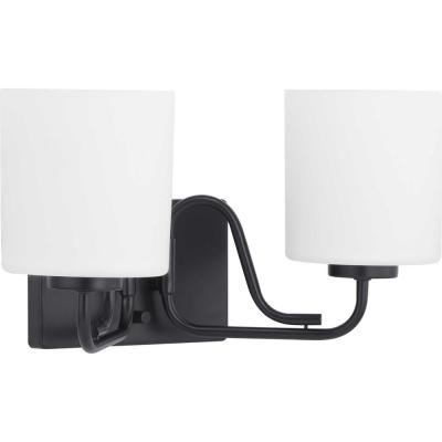 Tobin 2-Light Black Vanity Light