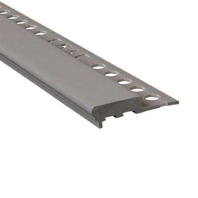 Novopeldano Maxi Graphite 3/8 in. x 98-1/2 in. Composite Tile Edging Trim