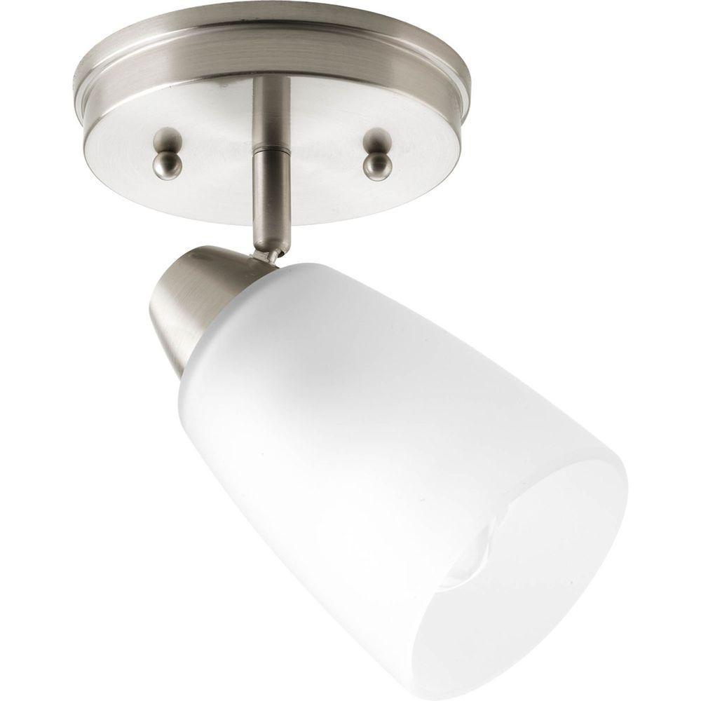 Wisten Collection 1-Light Brushed Nickel Spotlight Fixture