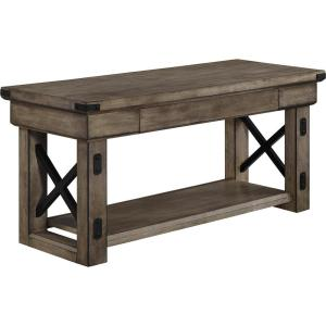 Forest Grove Rustic Gray Bench