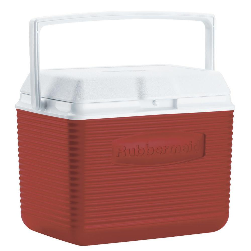 Rubbermaid 10 Qt. Red Chest Cooler