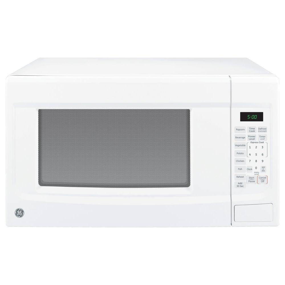 Ge 1 4 Cu Ft Countertop Microwave In White