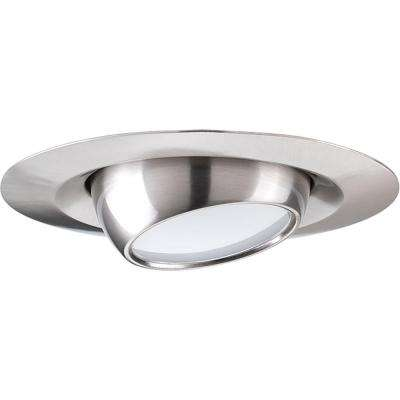 4 in. Brushed Nickel Integrated LED Recessed Trim