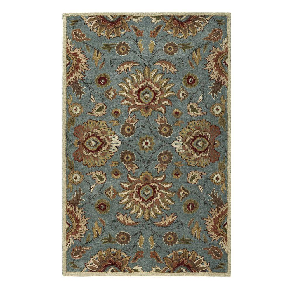 Home Decorators Collection Echelon Blue 4 Ft X 6 Area Rug 8784730310 The Depot