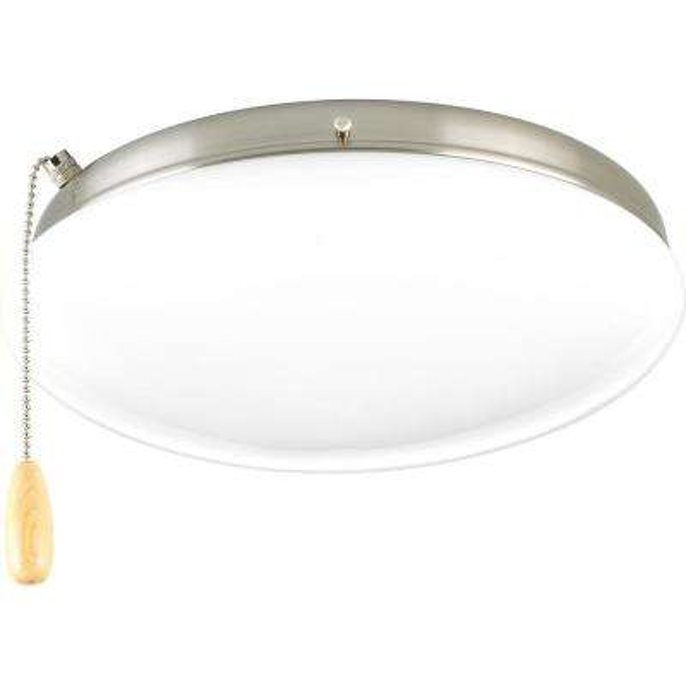 Fan Light Kits Collection 2-Light Brushed Nickel Ceiling Fan Light Kit
