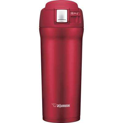 Vacuum Insulated 16 oz. Cherry Red Travel Mug
