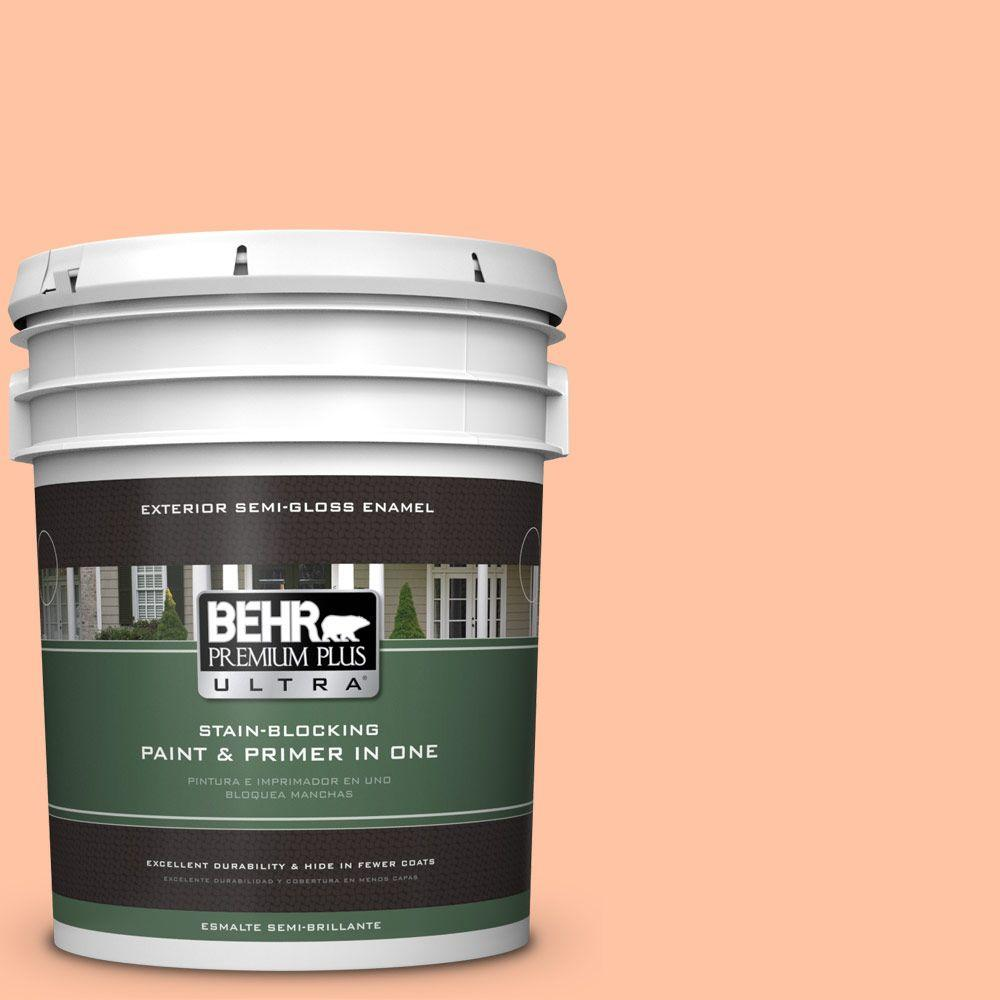 BEHR Premium Plus Ultra 5-gal. #240A-3 Bright Citrus Semi-Gloss Enamel Exterior Paint