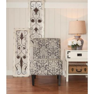 Black Fabric Accent Chair