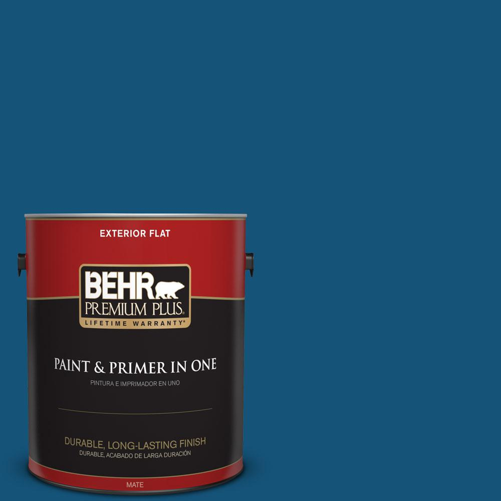 1-gal. #S-H-560 Royal Breeze Flat Exterior Paint