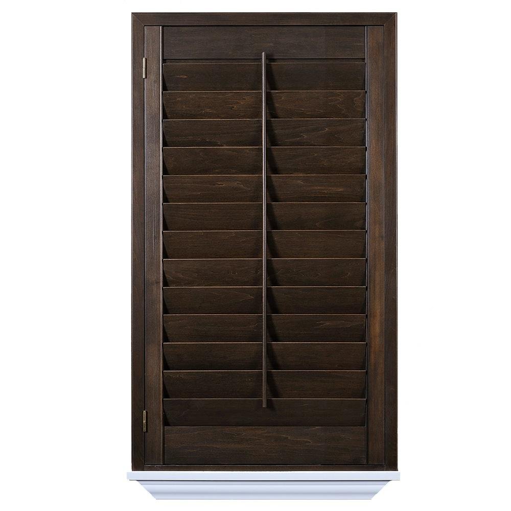 The Home Depot Installed Hardwood Stained Shutter