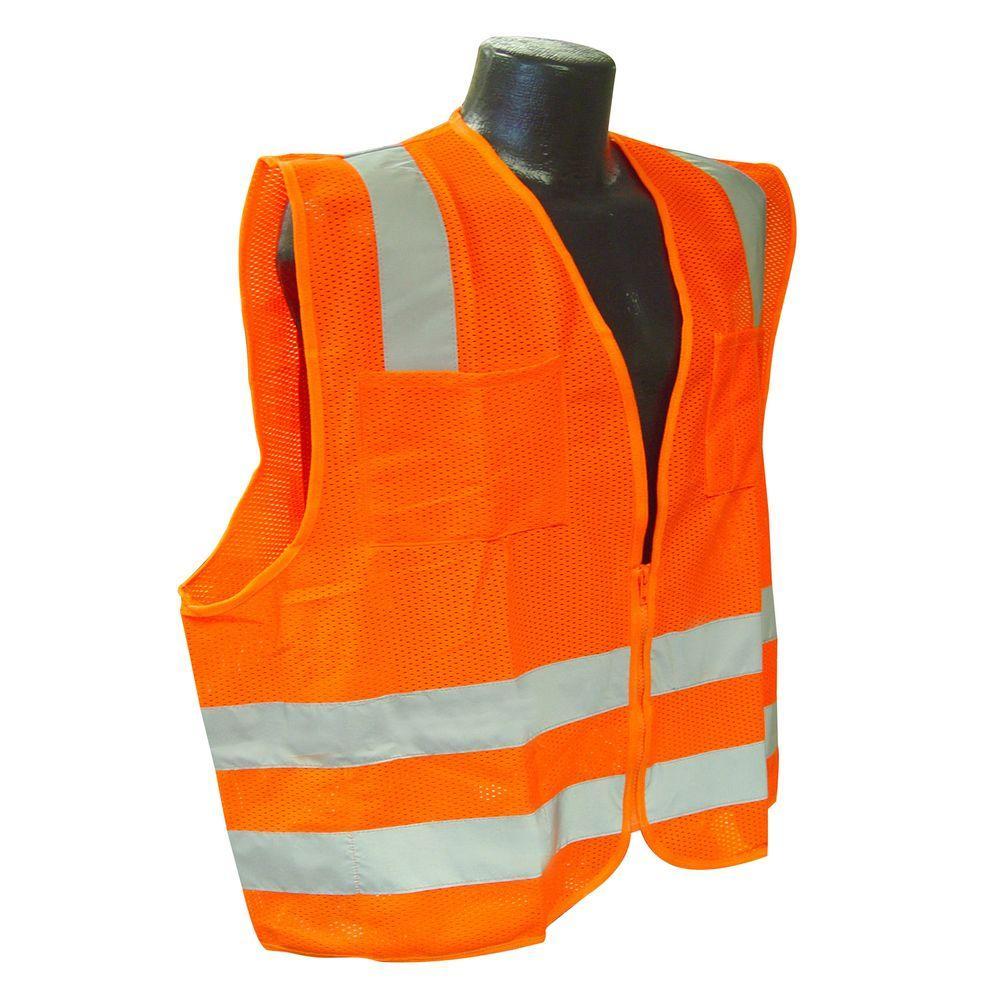 Std Class 2 Medium Orange Mesh Safety Vest