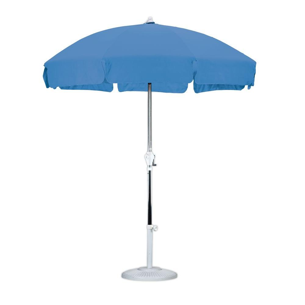 7-1/2 ft. Anodized Aluminum Push Tilt Patio Umbrella in Royal Blue