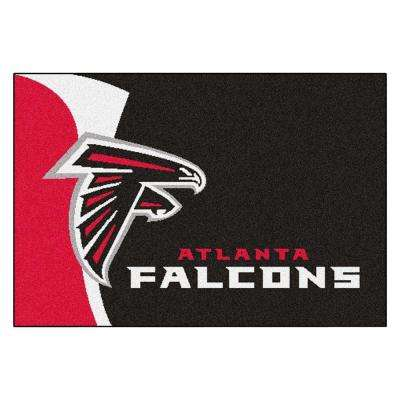 NFL - Atlanta Falcons Black Uniform Inspired 2 ft. x 3 ft. Area Rug