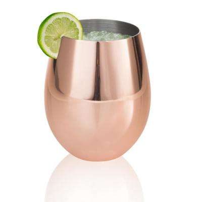 Colton 17 oz. 2-Piece Copper and Stainless Steel Stemless Glass Set