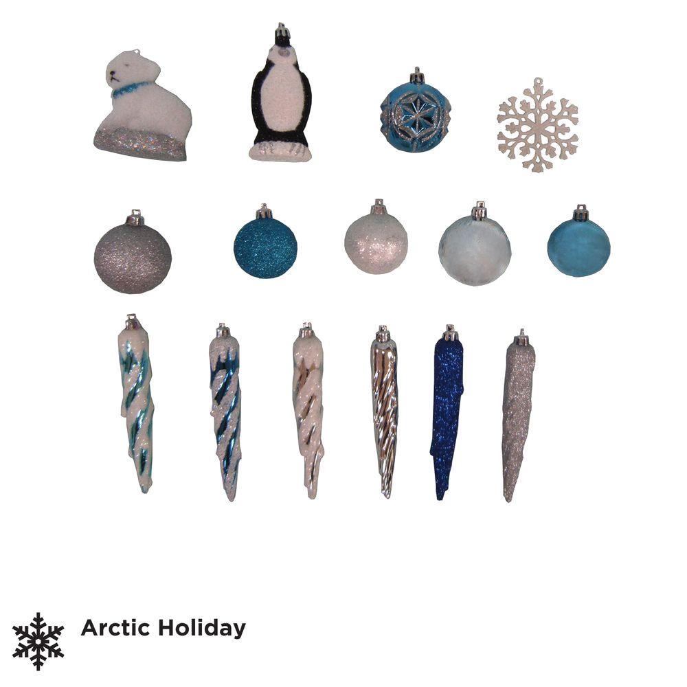 Martha Stewart Living Arctic Assorted Ornament Set (71-Set)