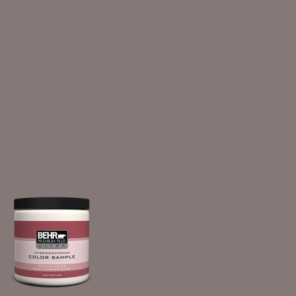 8 oz. #N140-5 Complex Gray Matte Interior/Exterior Paint and Primer in