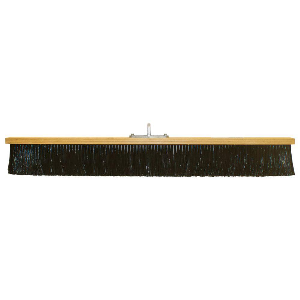 36 in. Black Nylon Concrete Finish Broom-Wood Block