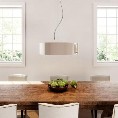 5-Light Satin Nickel Pendant with Circular Curved Panels