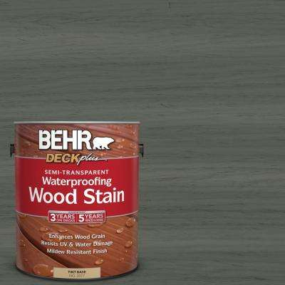 1 gal. #ST-131 Pewter Semi-Transparent Waterproofing Exterior Wood Stain