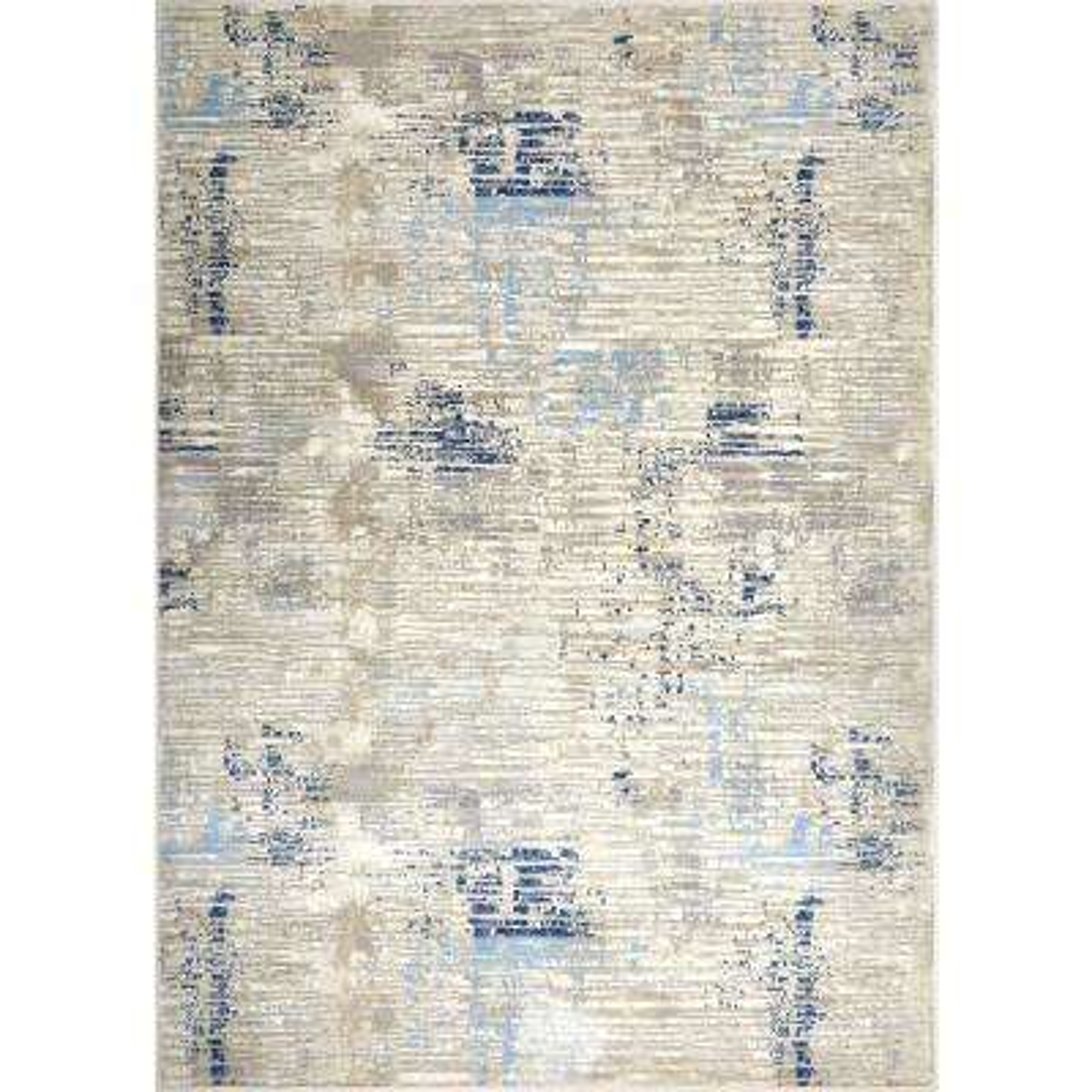 Melrose Lorenzo Gray/Blue 6 ft. 6 in. x 9 ft. 6 in. Indoor Area Rug