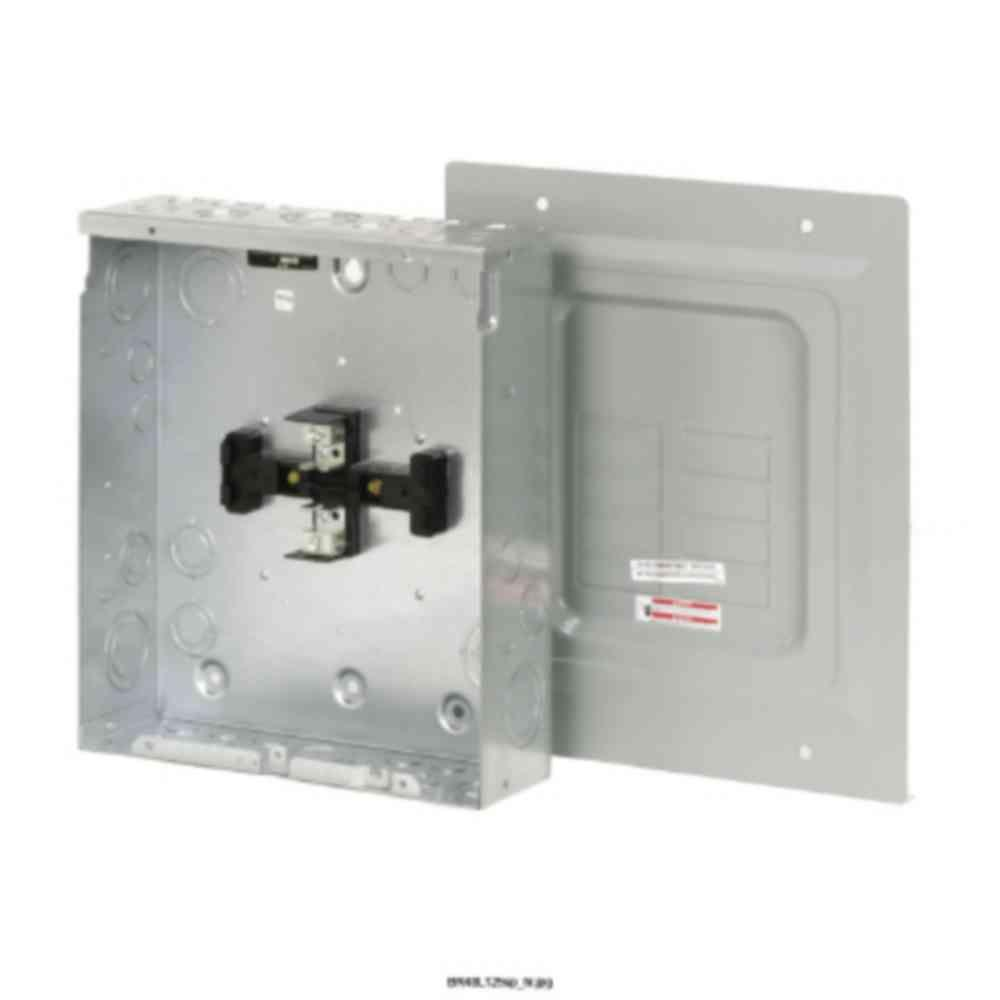 125-Amp 4-Space 8-Circuit Surface Type BR Mail Lug Load Center