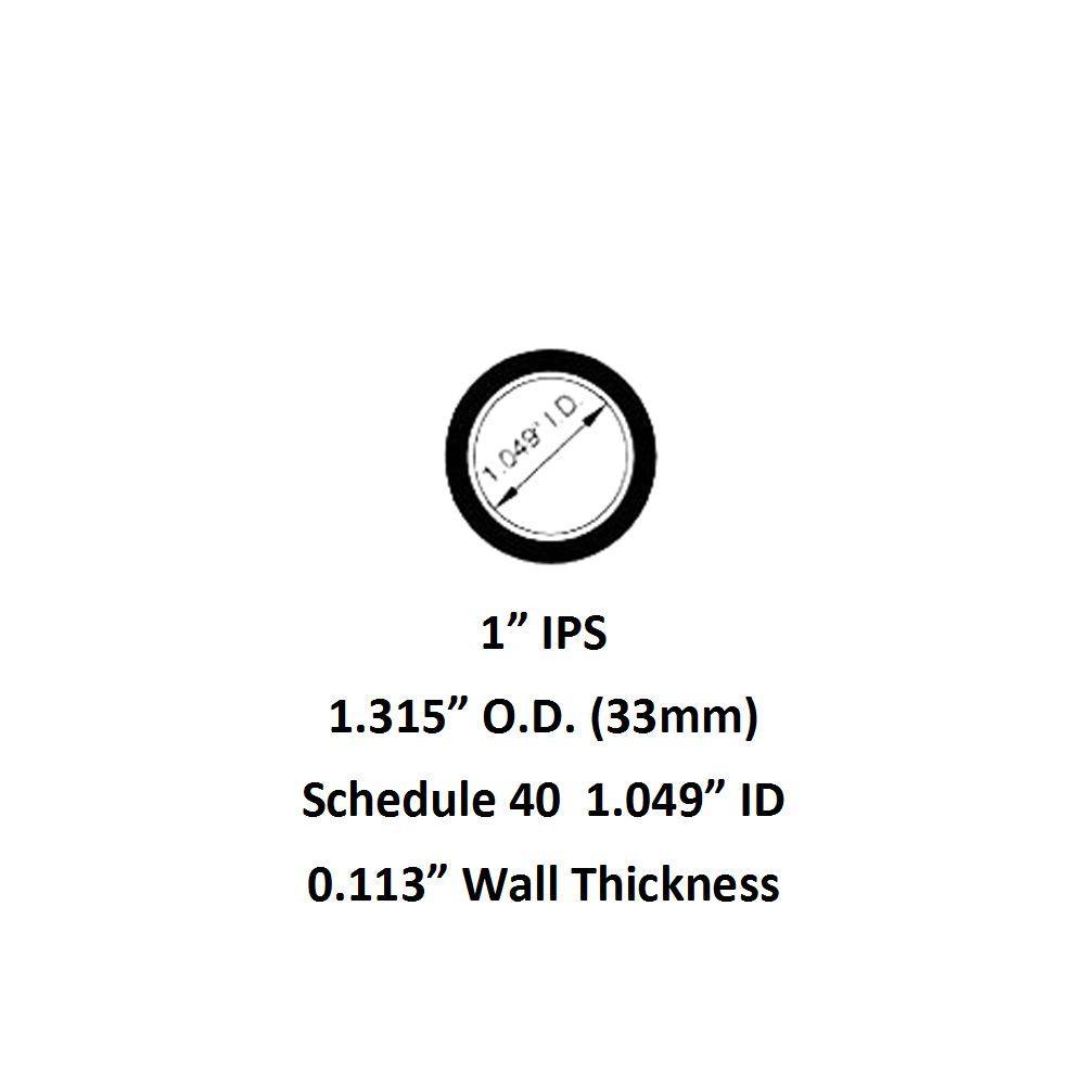 "1.5/"" Aluminum Pipe 30/"" long Schedule 40 6063 Mill Finish"