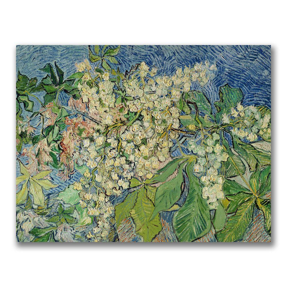Trademark Fine Art 35 in. x 47 in. Blossoming Chestnut Branches Canvas Art