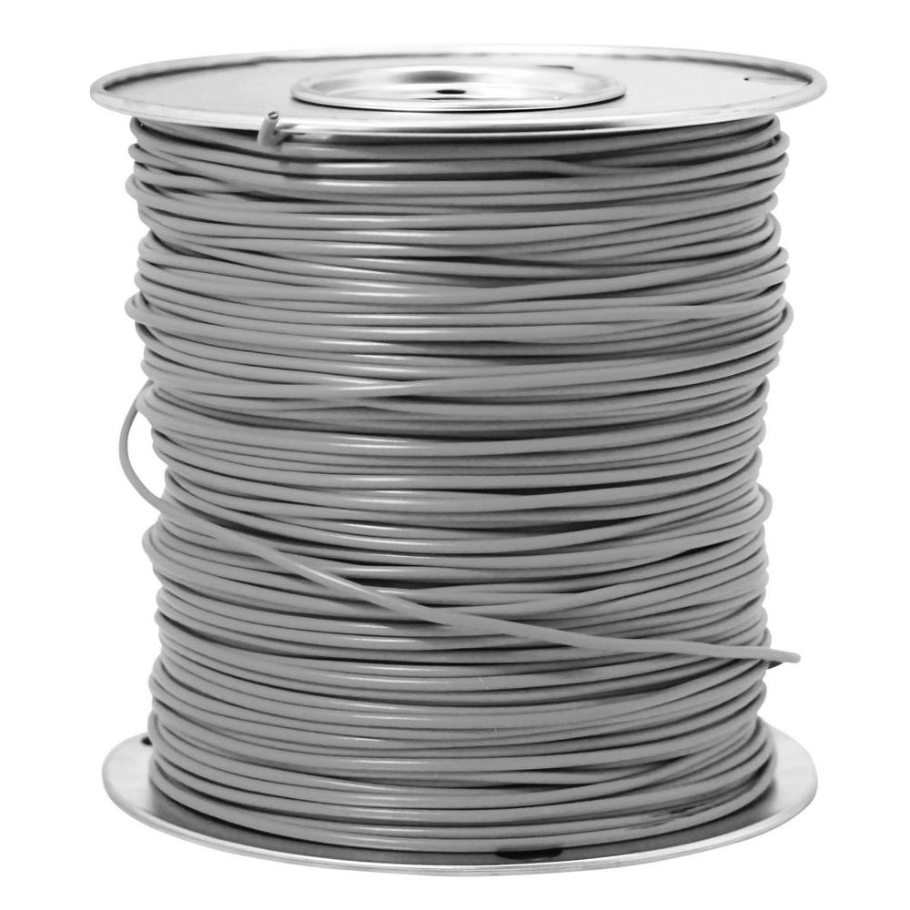 Southwire 2500 ft 12 Gray Stranded CU THHN Wire 22972406