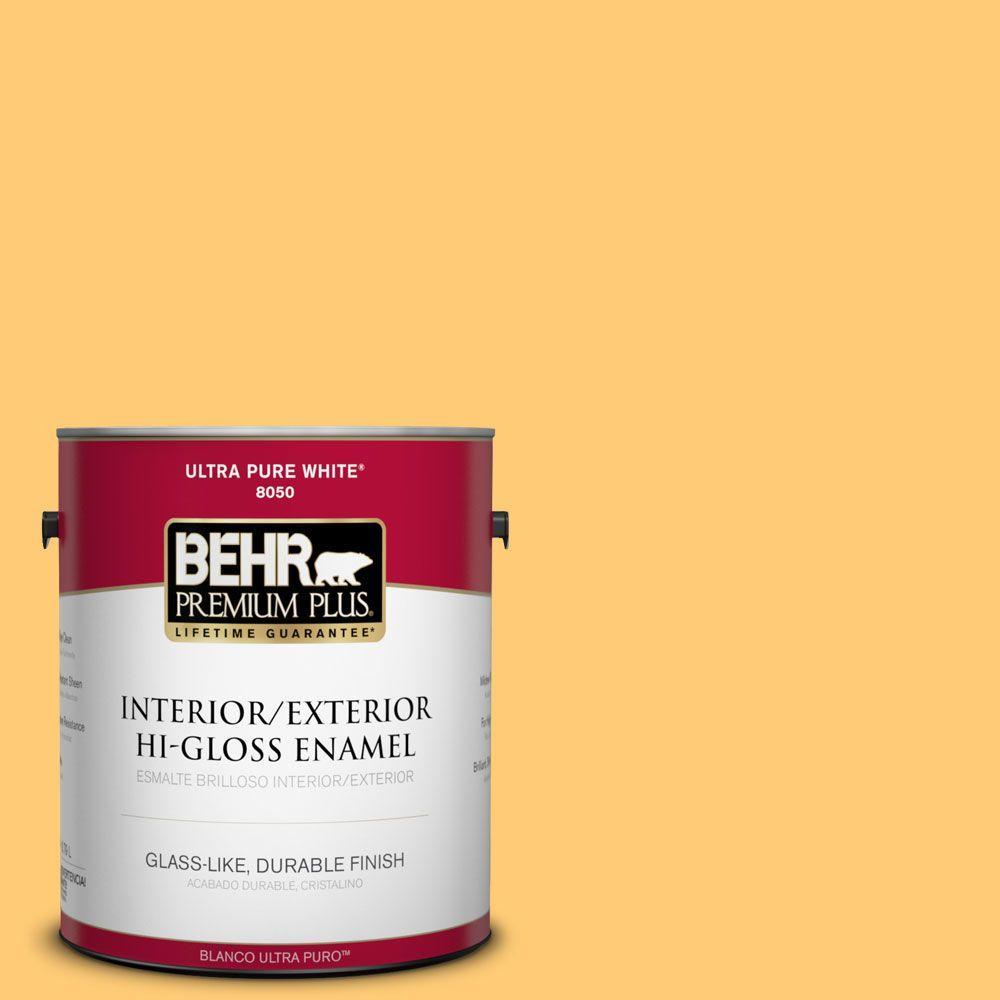 1-gal. #310B-5 Spiced Butternut Hi-Gloss Enamel Interior/Exterior Paint